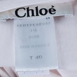 Chloe White Sleeveless Panelled Top M