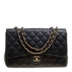 ee092fe3b0d53 Buy Chanel Green Quilted Caviar Leather Large Easy Flap Bag 94994 at ...