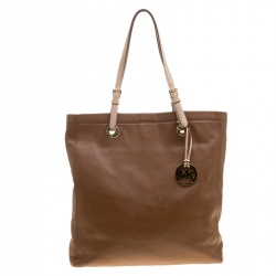 Michael Kors Brown Leather Jet Set Tote