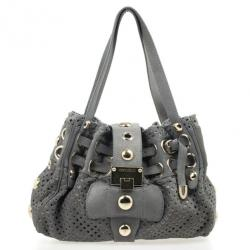 Jimmy Choo Perforated Suede Riki Bag