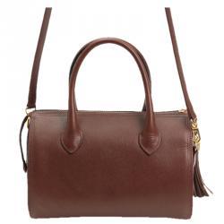 حقيبة كروس فالنتينو يد علوية جلد سافيانو عنابية