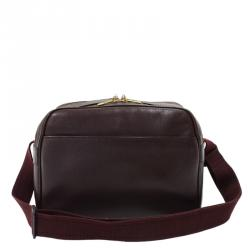Louis Vuitton Burgundy Taiga Leather Reporter Bag