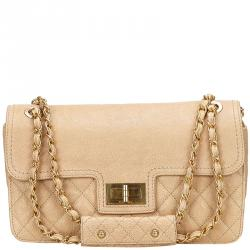fc2aa276f645 Buy Chanel Taupe Quilted Wild Stitch Caviar Leather Classic Flap ...