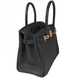 901d763921ce Buy Hermes Noir Togo Leather Palladium Hardware Birkin 30 Bag 164890 ...