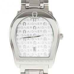 aigner watches watches aigner lc aigner white stainless steel verona men s wristwatch 38mm