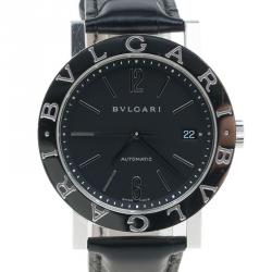 bvlgari watches men buy sell new pre owned watches lc bvlgari black stainless steel bvlgari men s wristwatch 38mm