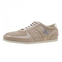 3a0b7695fbb2 Bottega Veneta Beige Suede and Leather Butterfly Sneakers Size 39.5