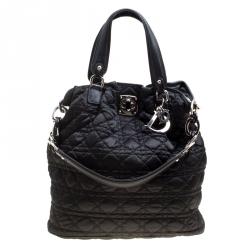 6e9789a70f93 Dior Black Cannage Nylon Tote