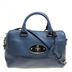 Mulberry Blue Leather Del Rey Top Handle Bag