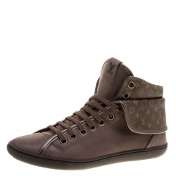 4e7d9ff8002b Buy Louis Vuitton Dark Blue Fabric and Leather V Gaston High Top ...
