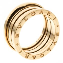 bvlgari bzero1 4band 18k yellow gold ring size 60