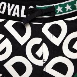 Dolce & Gabbana Multicolor DG Mania Print Jersey Track Shorts 4 Yrs