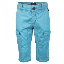 57f34ddb3 Fendi Blue Cold Pigment Overdyed Cotton Cargo Pants 4 Yrs