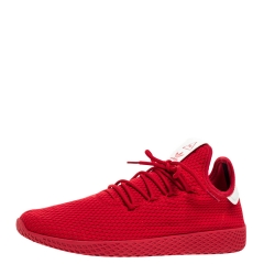 Pharrell Williams x Adidas Scarlet Red Cotton Knit PW Tennis Hu Sneakers Size 46