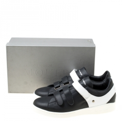 Alexander McQueen Monochrome Leather Velcro Sneakers Size 45