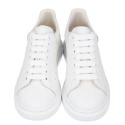 Alexander McQueen White Leather Oversized Sneakers Size EU 41