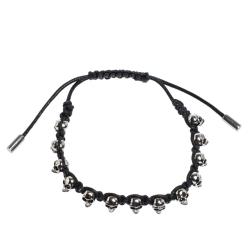 Alexander McQueen Skull Charm Silver Tone Bracelet