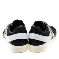Alexander McQueen Monochrome Leather Velcro Sneakers Size 44