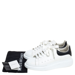 Alexander McQueen White Leather Oversized Low Top Sneakers Size 40.5