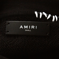 Amiri Black Distressed Knit Teddy Repair Crew Neck Sweatshirt S