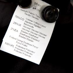 Armani Collezioni Black Velvet Knit Collar Detail Button Front Jacket XXXL