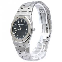 e0910cfe5 Audemars Piguet Black Stainless Steel Royal Oak Unisex Wristwatch 33MM