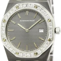 Audemars Piguet Grey Tantalum Diamond Royal Oak Men's Wristwatch 33MM