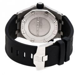 Audemars Piguet Black Stainles Steel Royal Oak Diver Men's Wristwatch 42 mm