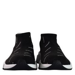 Balenciaga Black Nylon Low Logo Speed Trainer Sneaker Size 41