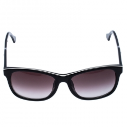 Balenciaga Black/White Trim BA 19-F Wayfarer Sunglasses