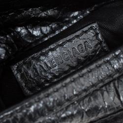 Balenciaga Black Leather Car Tag Explorer Pouch