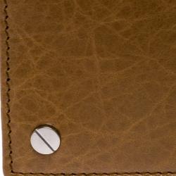 Balenciaga Brown Leather Screw Bifold Card Holder
