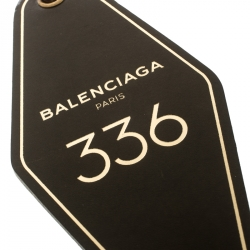 Balenciaga Green Hotel Diamond Oversized Key Tag