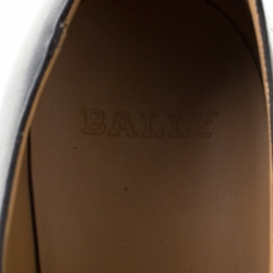 Bally Black Leather Derby Oxfords Lace Up Size 44
