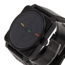 Bell & Ross Black Stainless Steel Aviation Type Men's Wristwatch 42MM