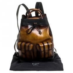 Berluti Brown Leather Horizon Backpack