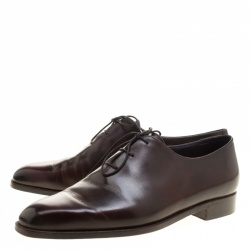 Berluti Burgundy Leather Alessandro Oxfords Size 43