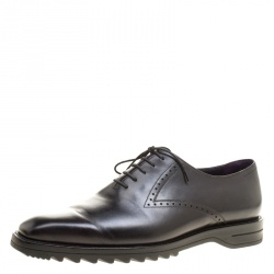 Berluti Black Leather Lace Up Oxfords Size 42.5 bd8bf9190