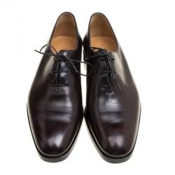 Berluti Black Leather Alessandro Oxfords Size 41