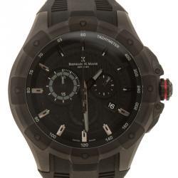 Bernhard H. Mayer Black Stainless Steel Victor Chronograph Men's Wristwatch 50 mm