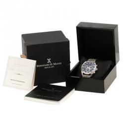 Bernhard H Mayer Blue Stainless Steel Ascent Chronograph Men's Wristwatch 44 mm