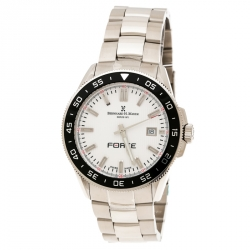 157d207e3 Bernhard H Mayer White Stainless Steel Force Quantum Men's Wristwatch 42 mm