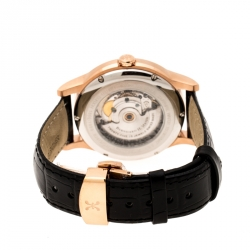 Bernhard H Mayer Black Rose Gold PVD Plated Stainless Steel Chronos-Rose Gold Limited Edition Men's Wristwatch 42MM