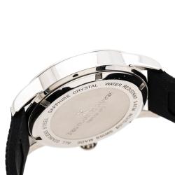 Bernhard H. Mayer Blue Stainless Steel Black Silicon Drift Men's Wristwatch 44 mm