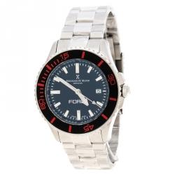 c5b9f10b411 Bernhard H Mayer Black Stainless Steel Force Maximus Men s Wristwatch 43MM