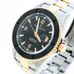186f740f5e Bernhard H Mayer Black Stainless Steel Nauticus Royale II Men s Wristwatch  45 mm