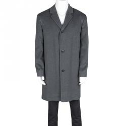 Boss Hugo Boss Grey Wool Cashmere Coat XXL