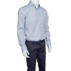 8479cbd4b929 Boss By Hugo Boss Checkered Cotton Regular Fit Button Front Shirt M