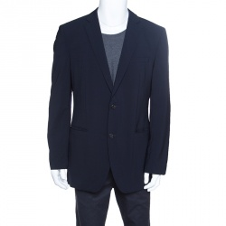 d240079810 Boss By Hugo Boss Navy Blue Wool The Jam 75/Sharp 3 Blazer XL