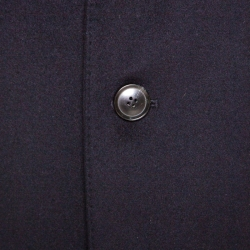 Boss by Hugo Boss Navy Blue Felted Wool and Cashmere Stratus Overcoat M